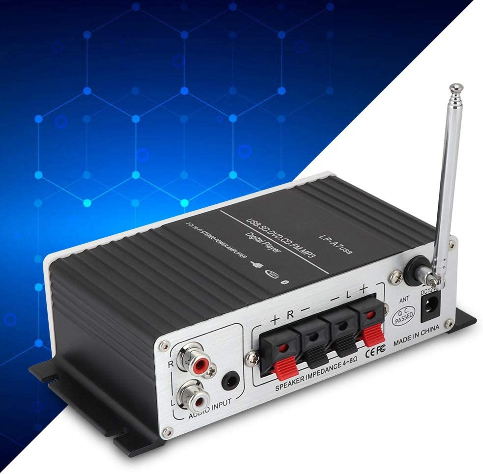 MP3//Car Cuifati Bluetooth Stereo Amplifier,Portable Dual Channel Surround Sound Audio Receiver,Bluetooth Digital Audio Speaker Power Amplifier USB