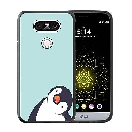 Amazon.com: LG G5 caso, funda personalizada Negro Goma Suave ...