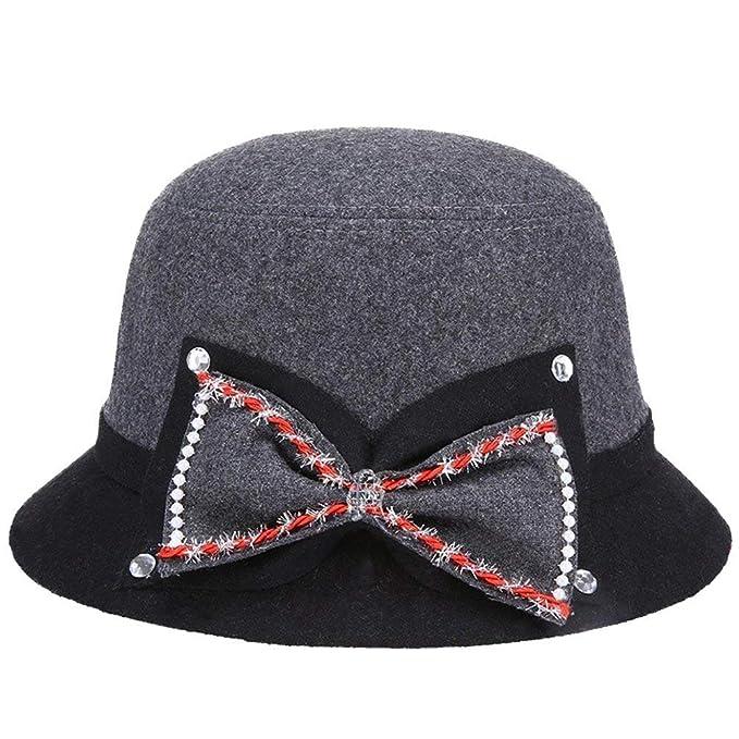 5f41ed63a16c3 Sombreros Sombrero Elegante Sombrero De Bell Fieltro De Sombrero De  Especial Estilo Fieltro Señoras Campana De
