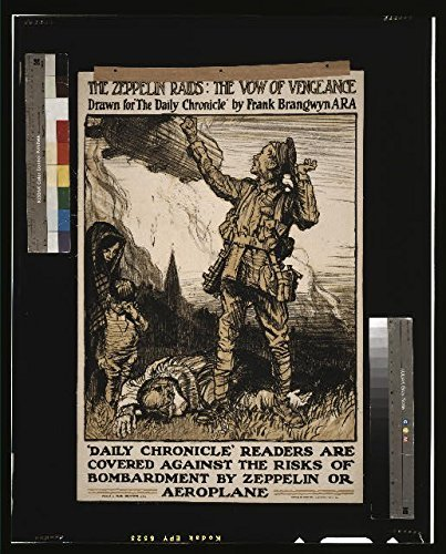 Price comparison product image Photo: World War I, WWI, Zeppelin Raids, Vow of Vengeance, Daily Chronicle, Brangwyn, 1915