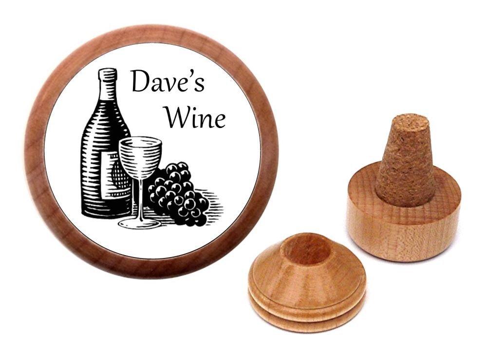 Personalized Bordeaux Cabernet Sauvignon Chablis Merlot Wine Stopper Gift