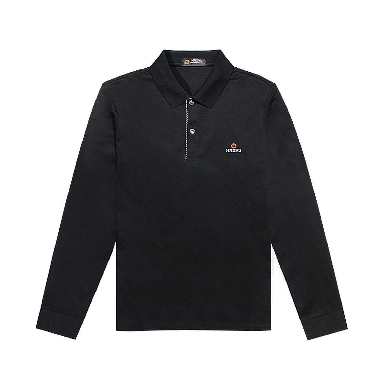 sensitives Men Brand Clothes Solid Polo Shirt Long Sleeve Regular Bright Beautiful 11 Color
