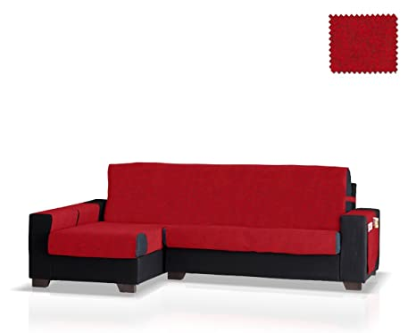 Funda de sofá Chaise Longue Pharma Brazo Izquierdo, Tamaño normal (245 Cm.), Color Rojo