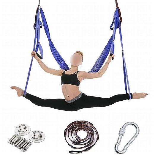 Klerokoh Hamaca de Yoga aérea 6 Hamaca para Ejercicios de ...