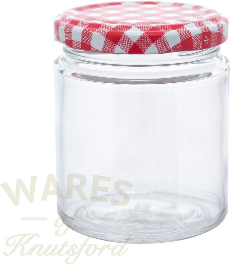 190 ml tarros de mermelada tarros, Comida, en paquetes de 12 y una ...