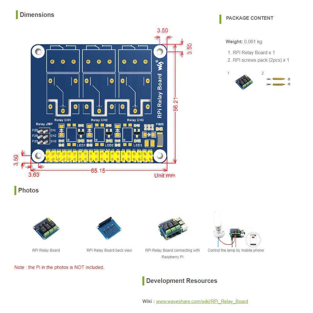 Enjoyable Amazon Com Waveshare Raspberry Pi Expansion Board Power Relay Board Wiring 101 Orsalhahutechinfo