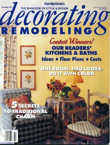 Cheap  Decorating Remodeling October 1991 5 Secrets to Traditional Charm, One Room Two..