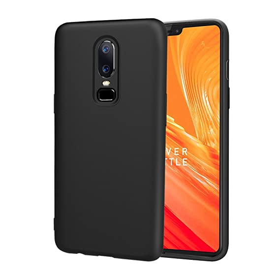 check out 5350b b37e0 OnePlus 6 Case, TopACE [Shock Absorption] Flexible TPU Soft Milk Skin  Silicone Cover for OnePlus 6 (Black)
