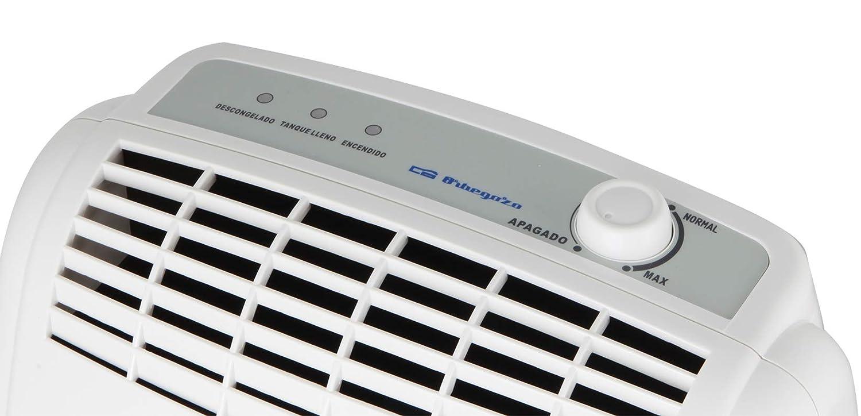 Orbegozo DH 2050 Deshumidificador capaz de eliminar hasta 20 l de humedad diaria, 355 W, 3.5 litros, Bbanco y verde