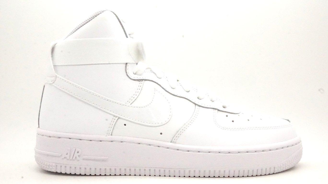 Nike Boys Air Force 1 High Basketball Shoes (4.5 M US Big Kid) White