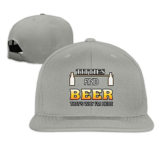 MCWO GRAY Mens Womens Titties and Beer Baseball Hat Mesh Hat Cotton ... dd546d5ef