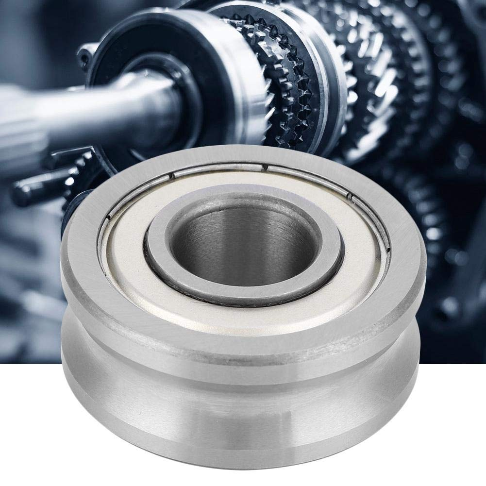KDD Metal Cover 8x24x11mm 1 pcs Bearing Steel for Industrial LFR50//8-8 take 8mm Rail U Groove Track Guide Track Guide Bearing Roller Bearing