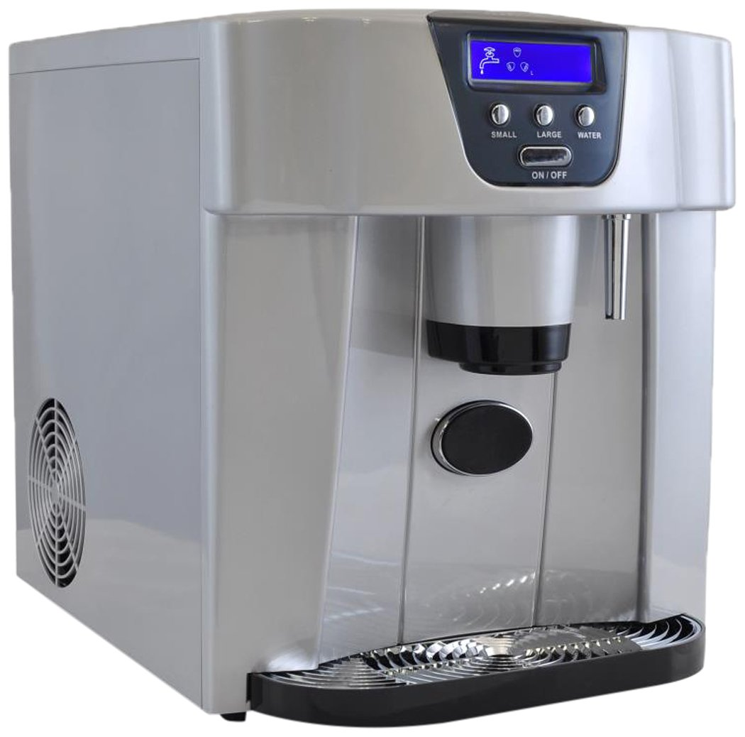 NutriChef Ice Maker and Dispenser - Upgraded Machine Countertop Ice Dispenser, Ice Machine W/ Easy-Touch Buttons, Get Ice In 9 minutes, Produces 33 lbs Of Ice Per 24 Hours