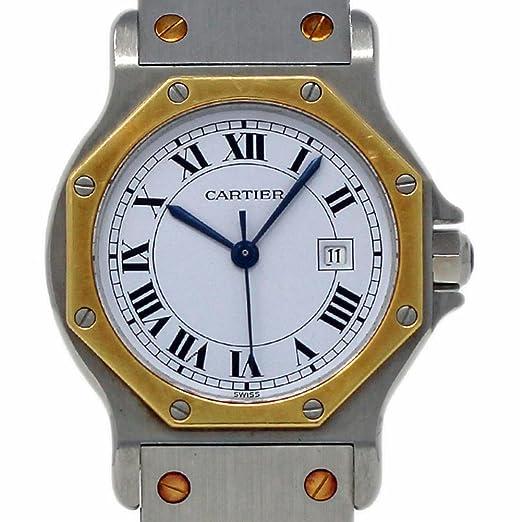 Cartier Santos Octagon Swiss-Automatic 2966 - Reloj de Pulsera para Mujer (Certificado de