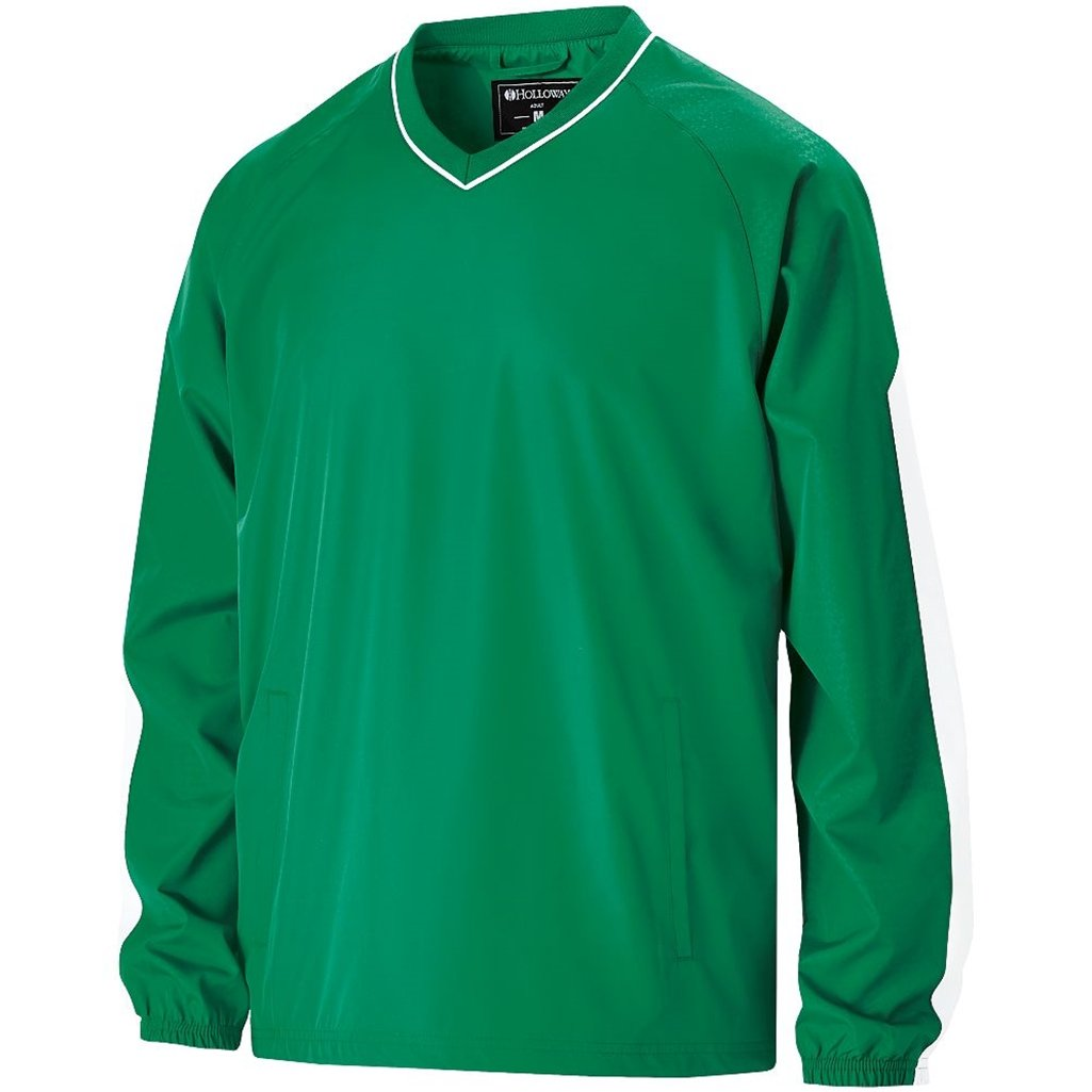Holloway Youth Bionic Pullover Windshirt (Large, Kelly/White) by Holloway