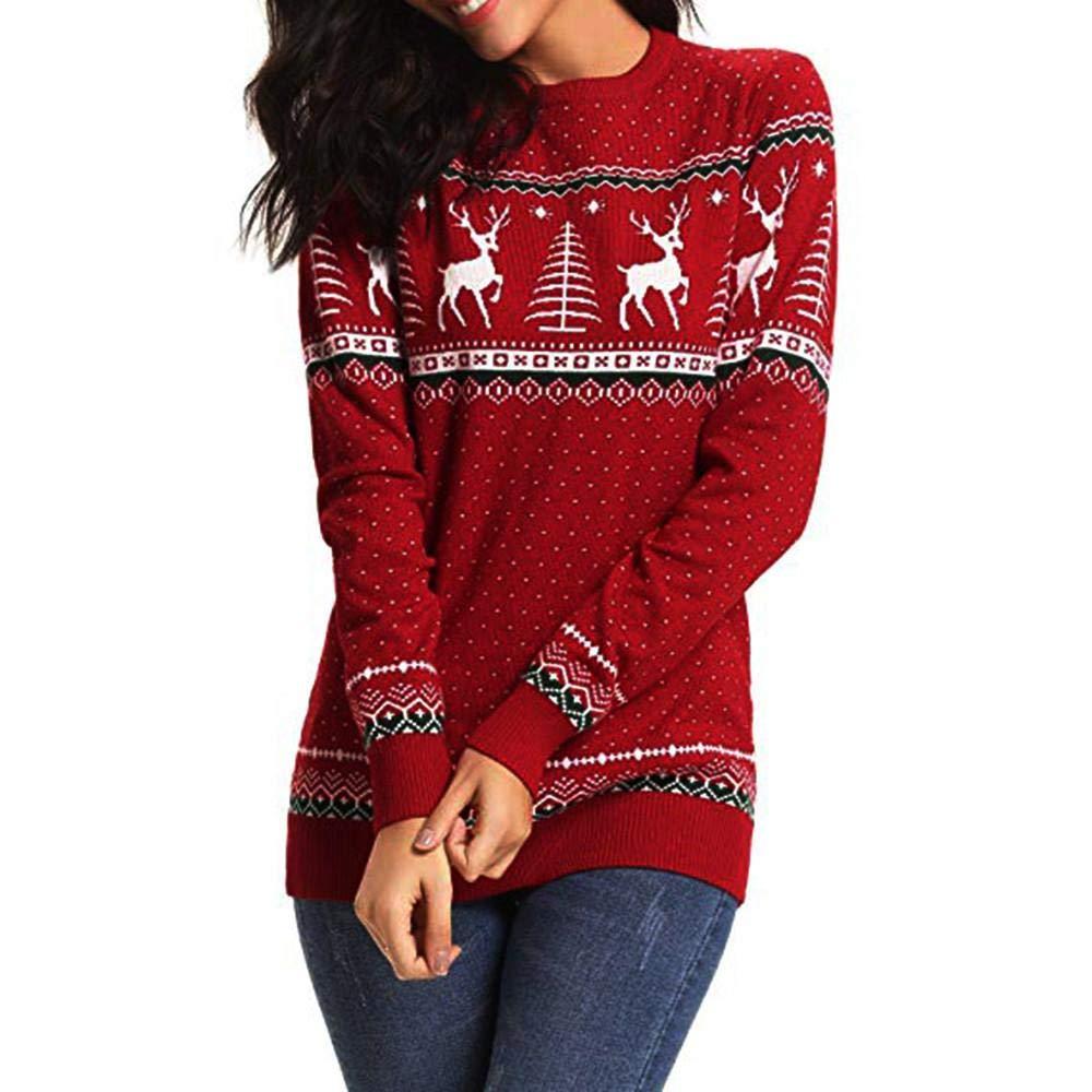 Oliviavan Women Comfort Blouse, Ladies Christmas Zipper Dots Print Tops Hooded Sweatshirt Pullover T-Shirt