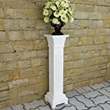 Festnight Classic Pedestal Pillar Plant Flower Plate Stand Home Decorative Wedding Party Garden Hallway Patio Yard Decor Column Pillar Suit for Both Indoor and Outdoor