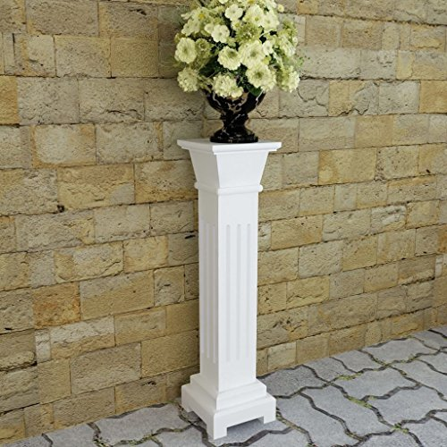 Festnight Classic Pedestal Pillar Plant Flower Plate Stand Home Decorative Wedding Party Garden Hallway Patio Yard Decor Column Pillar Suit for Both Indoor and ()