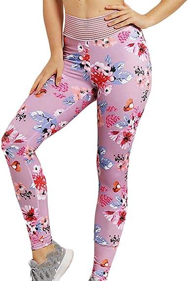 Leggings Yoga Mujer Pantalones, YpingLonk Flor Impresión ...