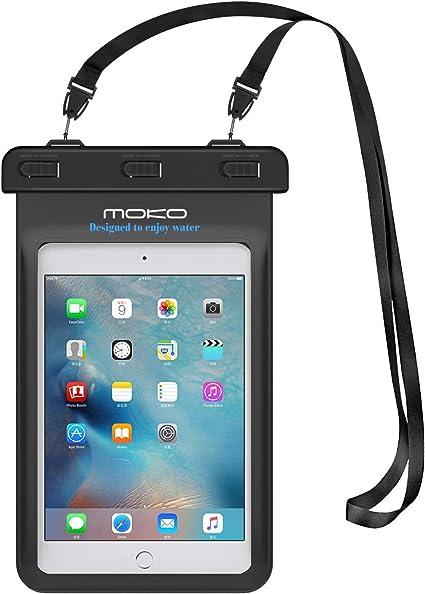 Oferta amazon: MoKo Funda Impermeable - Universal Waterproof para iPad Mini 2019 / iPad Mini 4 3 2 1/ Nexus 7/ G Pad 7.0/8.0/8.3/ Venue 7.0/8.0/8.0 Pro, Lenovo Tab A7 y Tableta 8.4 Pulgadas - Negro
