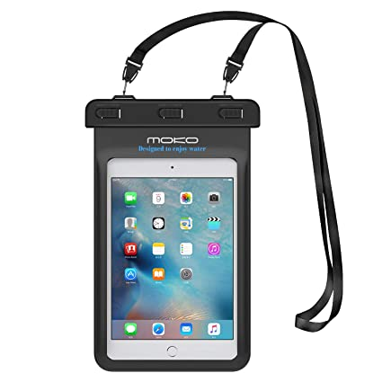 MoKo Universal Waterproof Case, Dry Bag Pouch for iPad Mini 2019/4/3/2,  Samsung Tab 5/4/3, Galaxy Note 8, Tab S2/Tab E/Tab A 8 0, LG G Pad III 8 0,