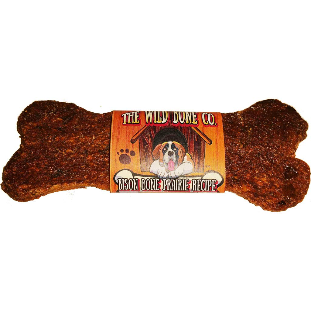 Bison Bone Prairie Recipe Jerky Style Dog Treat - 48 Pack of 1 oz. Treats