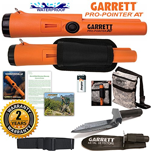 Garrett Pro Pointer AT Detector Waterproof with Camo Pouch Edge Digger and Belt by Garrett