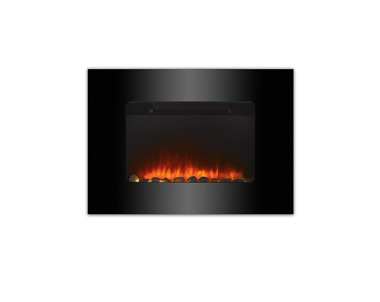GLOWMASTER Montado en la Pared eléctrico Fuego Chimenea Parpadeo Llama. Cristal Compacto Radiador: Amazon.es: Hogar
