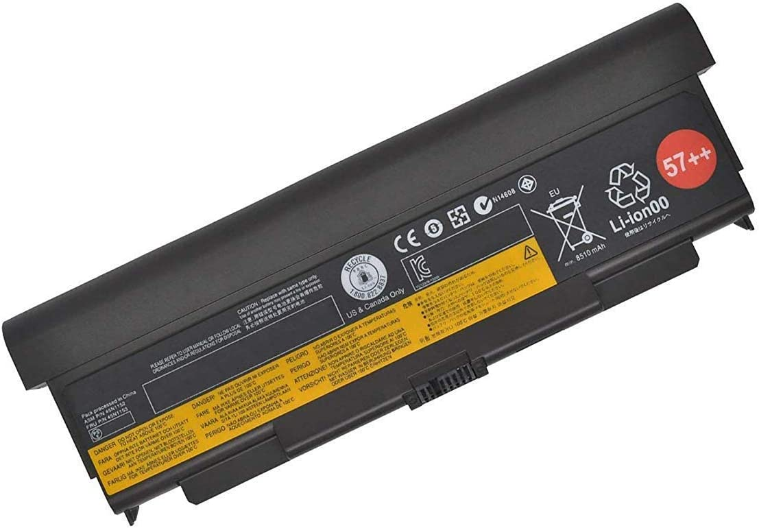 Amanda 9 Cell 57+ New Battery Replacement for Lenovo ThinkPad T440P T540P W540 W541 L440 L540 45N1152 45N1153 0C52864 11.1V 8960mAH