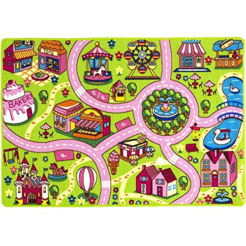 (Mybecca Kids Rug Fun Land Play Rug 8 x 11 Non Slip Gel Backing Size approximate: 7' feet 2