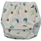 Mother-Ease One-Size Cloth Diaper Cover (Medium (10-20 lbs), Oceans)
