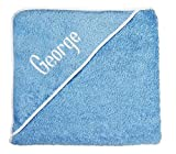 Personalized Baby Gifts Baby Bath Towels Blue Hooded Towels with Your Baby Boy Name