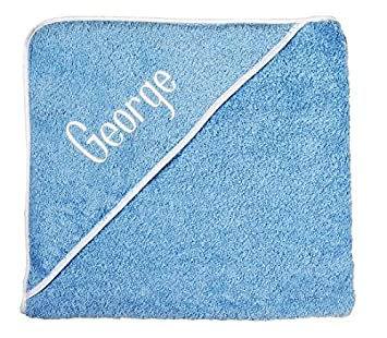 Amazon personalized baby gifts baby bath towels blue hooded personalized baby gifts baby bath towels blue hooded towels with your baby boy name negle Image collections
