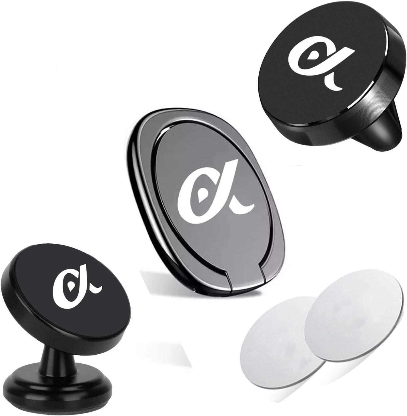 Finger Ring Holder 360 Rotation for Smartphone Dashboard CAR Phone Mount Holder 360 Rotation Magnetic CAR Phone Mount Holders Vent CAR Phone Mount Holder