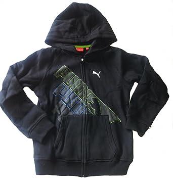 324c2f259b7e PUMA - coole Hoodie Sweatshirt Jacke - (Kinder) schwarz mit Logo - Gr.