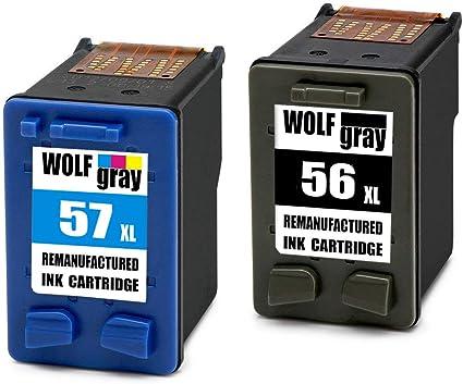 Wolfgray 56XL Remanufacturado para HP 56 XL 57XL Cartuchos de ...