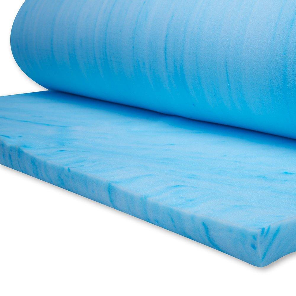 Campus Linens Gel Flex 34''X76'' Memory Foam twin XL mattress topper for College Dorm Bedding