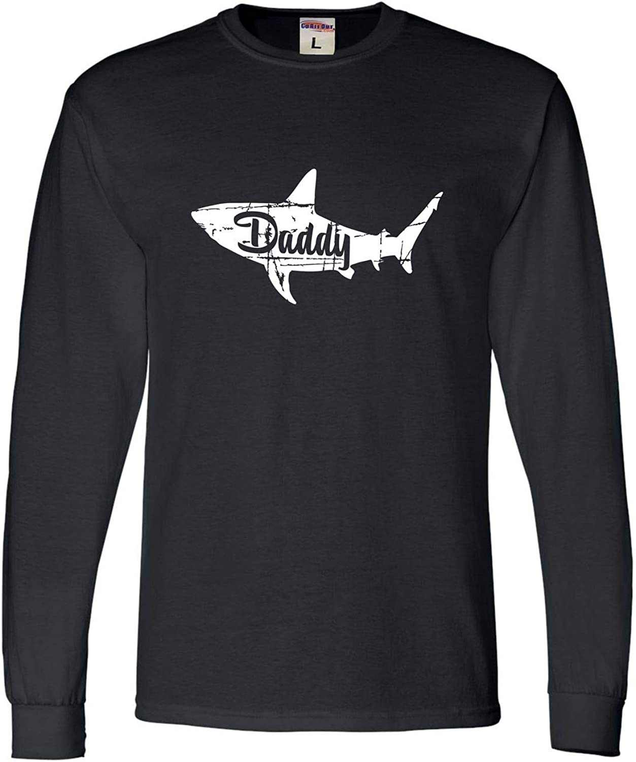 Go All Out Adult Fashion Daddy Shark Long Sleeve T-Shirt