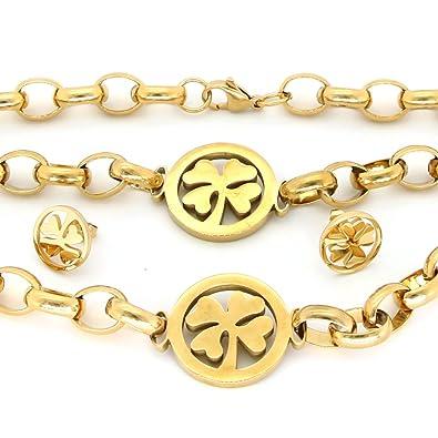 Amazon.com: Ys acero inoxidable joyería de moda, pulsera + ...