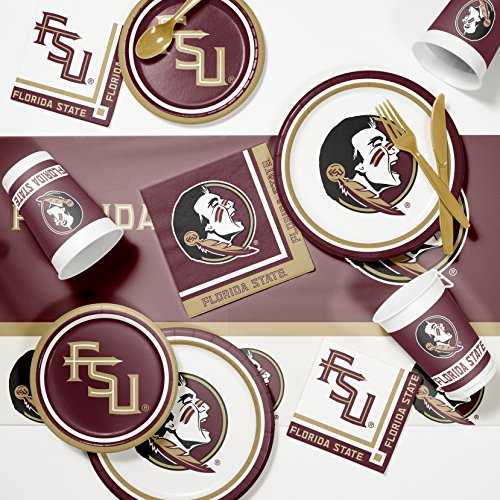NCAA Florida State Game Day Party Supplies Kit, Serves 8