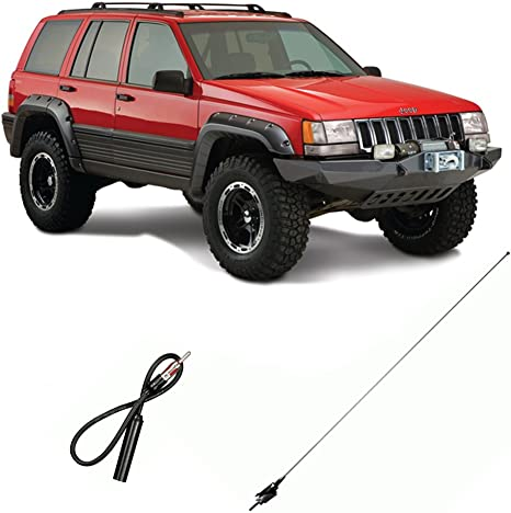 """13/"""" Black Stainless AM FM Antenna Mast FITS 1997-2001 Jeep Cherokee"""