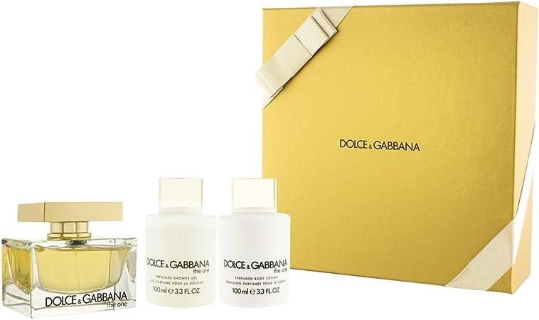 Dolce & Gabbana The One Eau De Toilette 300ml Vaporizador + Perfumed Body Lotion 100ml + Gel De Ba–o 100ml: Amazon.es: Belleza