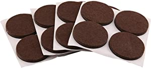 Prime-Line MP76705 Heavy-Duty Furniture Felt Pads, 1/4 in. Thick x 2 in. Diam, Self-Adhesive Backing, Brown, Pack of 16