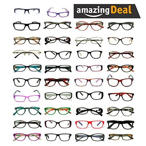 Reading Glasses LOT of 25 Assorted Colors & Style Retro Classic Vintage Designer Inspired Sunglasses Wholesale Deal (Lot of 25 (Readers), - Reading Glasses Wholesale Sunglasses
