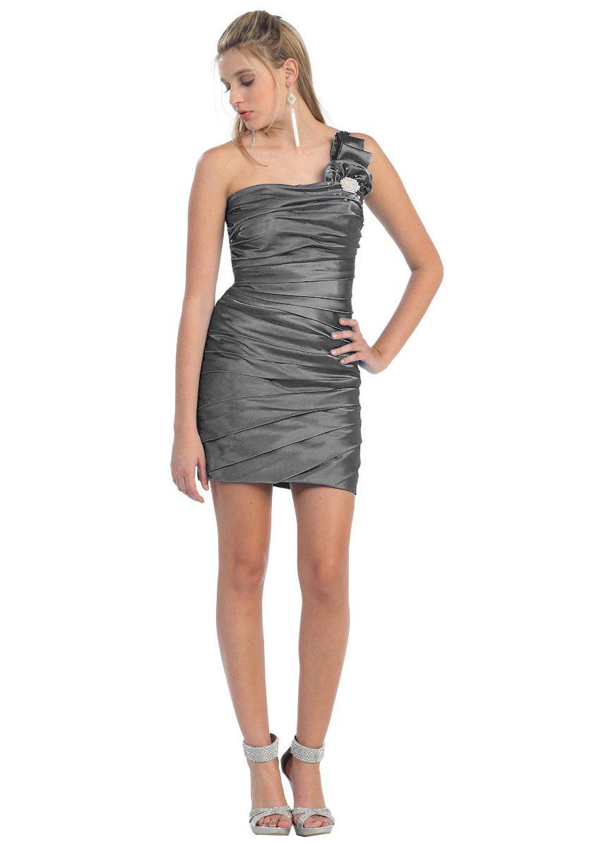 Cocktailkleid Party-Kleid Abi-Ballkleid One-Shoulder-Kleid ...
