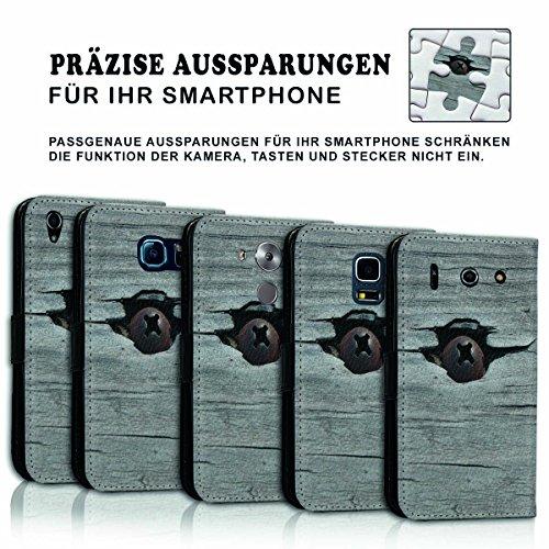 Wallet Book Style Flip Handy Tasche Case Schutz Hülle Schale Motiv Etui für Apple iPhone 4 / 4S - Design Flip MV73