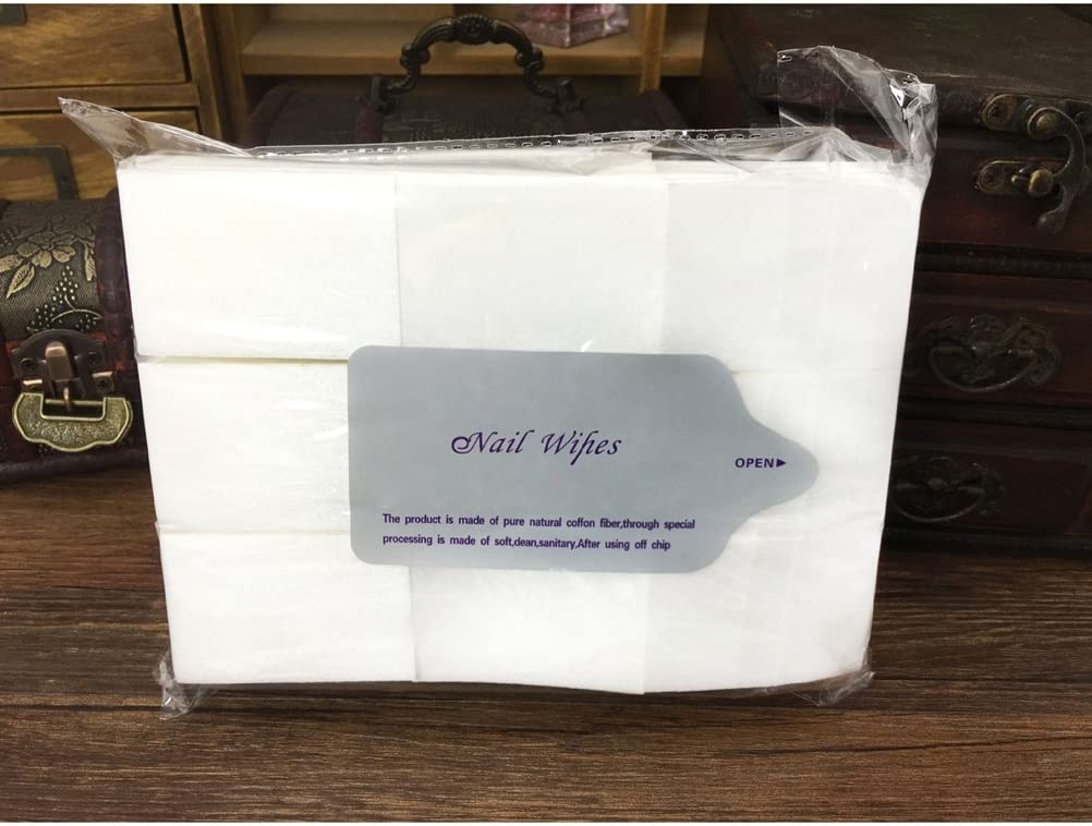 toallitas removedor Frcolor Paquete de 900 pa/ñuelos de u/ñas S/úper absorbente sin pelusa desechables algod/ón esmalte de u/ñas