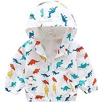 sunnymi - Abrigo para bebé niño y niña, de 1 a 6 años, diseño de dinosaurio, animal, con capucha, resistente al viento