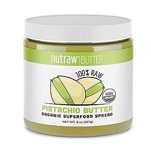 Nutrawbar, 100% Raw Pistachio Butter, Organic Superfood Spread 8oz