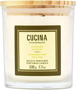 Cucina Handmade and Composed of Plant-Based Wax Candle (Coriander and Olive Tree)